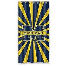 Custom NCAA Michigan Wolverines Stripe Waterproof Polyester Shower Curtain 36x72