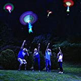 Bhappy Rocket Slingshot Copters with LED Lights Toy for Kids 6 pcs Copters 2 pcs Launcher New Upgraded
