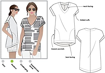 1d490d910f9 Style Arc Sewing Pattern - Elani Tunic (Sizes 04-16) - Click for