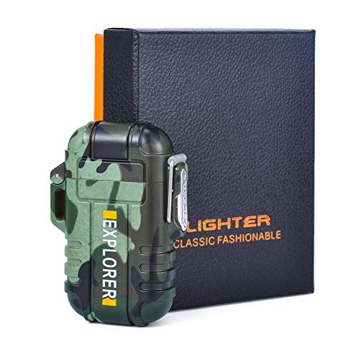 BS Cigar Lighter Cigar Punch Lighter Triple Jet Flame Butane Cigarette Torch Lighter (Camouflage)