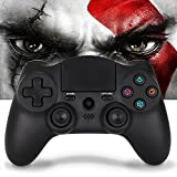 PS4 Controller Wireless Remote Control - Large Size Bluetooth DS4 Gamepad,Pro Slim Dualshock4 Gaming Joystick with Micro USB,Support Playstation4,PC,Smart TVs(OUBANG MONTAIN