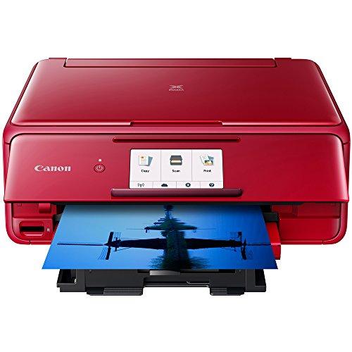 Canon PIXMA TS8120 Wireless Printer w/Scanner & Copier Red + Warranty Bundle by Canon (Image #3)