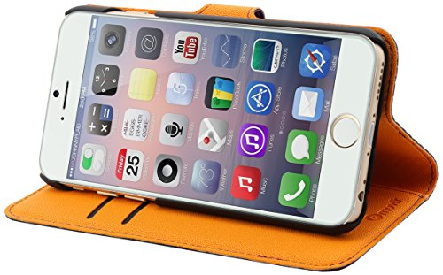 muvit iPhone 6 Wallet Case with 3 Cardslots Purple/Orange