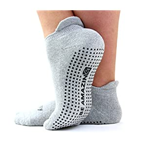 Barre Socks for Women, Non-skid Grip Sox for Yoga Pilates, Maternity Sock for Labor Delivery
