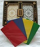 2 Free Cut Cards KEM Arrow Black Gold Playing Cards Bridge Size Regular Index