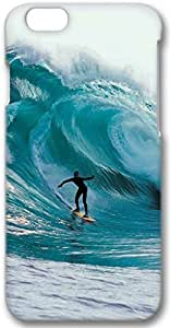 Big Wave Surfing Apple iPhone 6 Case, 3D iPhone 6 Cases Hard Shell Cover Skin Casess