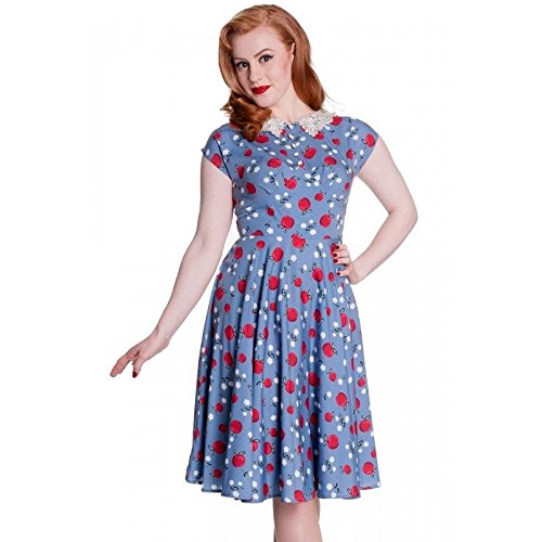Hell-Bunny-Pin-up-50s-Swing-Tattoo-Rockabilly-Vintage-Retro-Francine-Dress