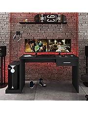 Mesa Gamer 1 Gaveta DRX 9000 Siena Móveis Preto Black