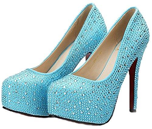 Wedding Pumps High Reinhar Prom Stone Platforms Green Party Shoe Bridal Heels pwn7O