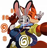 MAGIC WALL CLOCK FOR DISNEY FANS Zootopia 11.8'' Handmade Made of Acrylic Glass - Get Unique décor for Home or Office – Best Gift Ideas for Kids, Friends, Parents and Your Soul Mates