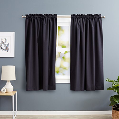 Tie Back Kitchen Curtains: AmazonBasics Room Darkening Thermal Insulating Blackout