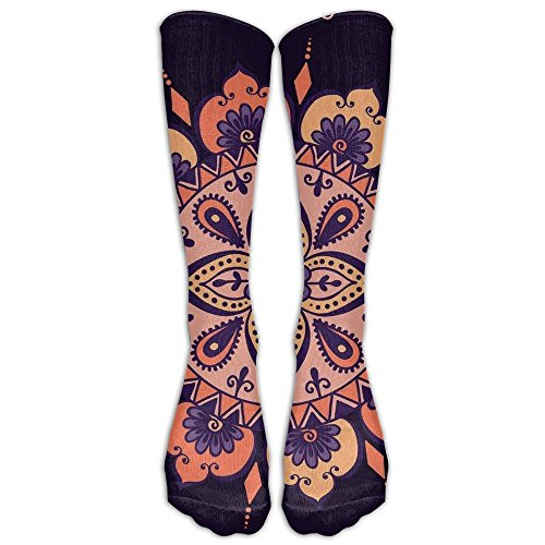 Most Fashion Maker Perfect Gift - Multi Color Mandala Floral Design Round Pattern Stockings Breathable Hiking Socks Classics Socks For Women Teens Girls Unisex