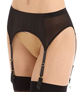 Agent Provocateur L Agent Womens Penelope Suspender Size XSmall in Black 4004bf5ab
