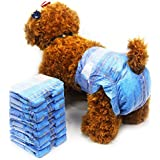 Pet disposable dog diaper Jeans style puppy female dog diapers (3 pack,24pcs) (XS)