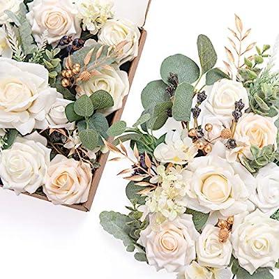 Ling S Moment Artificial Flowers Box Set For Diy Wedding Bouquets Centerpieces Arrangements Party Baby Shower Home Decorations Amazon Sg Home