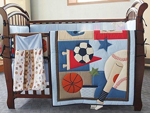 New Circo 8pieces Baby Boy Sport Crib Bedding Set with bumper