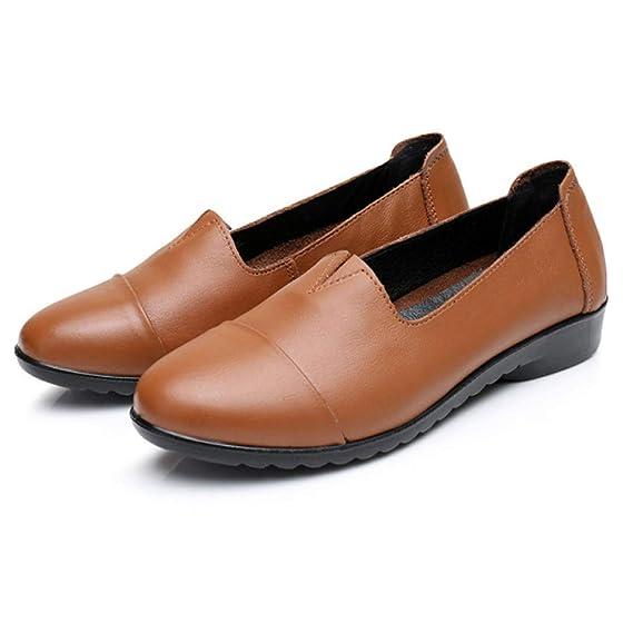 276c489a7ce997 PLNXDM Lässige Arbeitsschuhe Büro Komfortschuhe Damen Flacher Loafer Damen  Mokassin Schuh  Amazon.de  Bekleidung