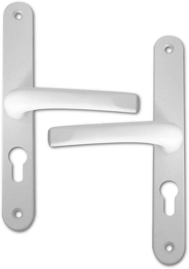 Asec UPVC Replacement Lever Door Handles 48mm Centres 270mm Backplate White