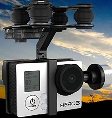 2 x Quantity of GoPro Hero 4 Black G-2D 2 Axis Brushless Gimbal for / GoPro Hero 3 / Sony Camera - FAST FREE SHIPPING FROM Orlando, Florida USA! by HobbyFlip