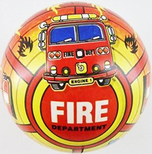 Inflatable Fire Engine PVC Plastic Football Play Beach Ball Kid Boy Party Child Pool Birthday Garden Summer Fun 23cm by Concept4u by Concept4u