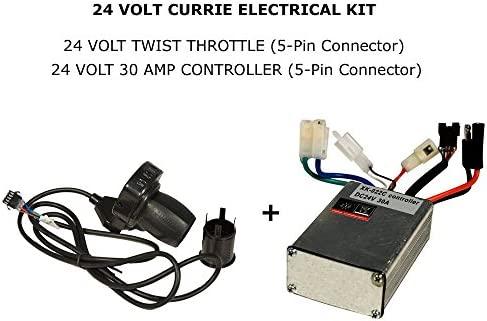 Currie Tech - Kit elítrico de 24 V (acelerador con LED y ...