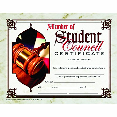 Member of Student Council Certificate - Matte Paper - Quantity -