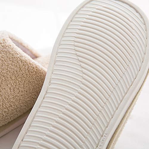 star Cute Fleece Khaki House MOCOTONO Memory Print Lining Foam Slipper Men's Shoes nwqwR4P