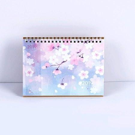 Grea 2019 Novedad Flores de Cerezo Calendario de Escritorio DIY ...