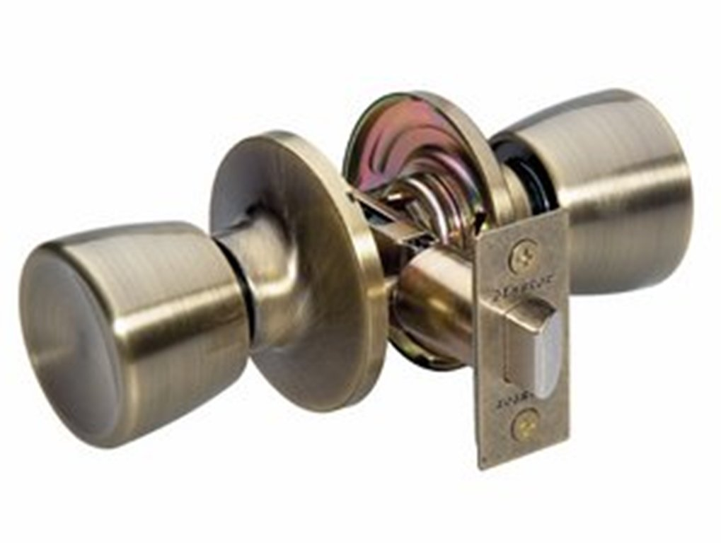 Master Lock TUO0105 Tulip Keyed Entry Door Knob, Antique Brass   Doorknobs    Amazon.com