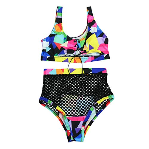 Sexy Women Two Piece Bathing Suit Color Block Lace Up Bandage Bikini Set High Waisted Mesh Cheeky Swimsuit Sets Body Glove Guitar Cases