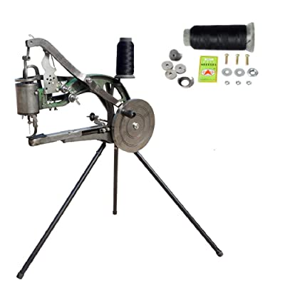 ECO-WORTHY Hand Machine Cobbler Dual Cotton Nylon Line Sewing Machine