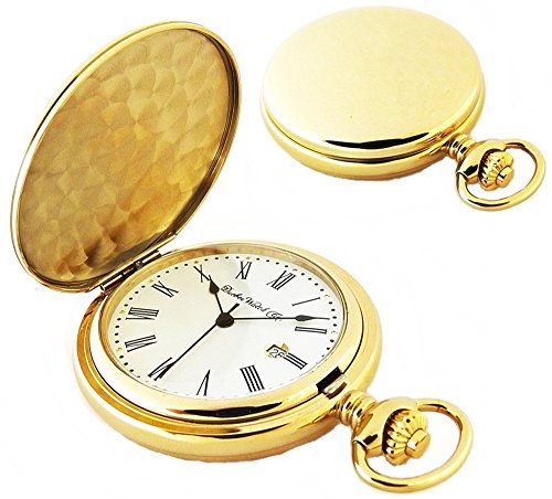 Dueber Watch Co Gold Plated Hunting Case Pocket Watch with Swiss Movement, Roman Numerals