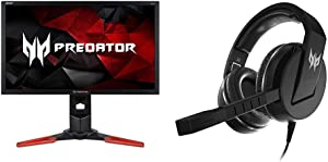 Acer Predator XB241H Bmipr 24-Inch Full HD 1920x1080 NVIDIA G-Sync Display with Acer Predator Galea 311 True Harmony Sound Gaming Headset