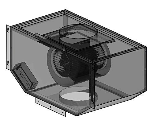 Vent Accessories Hood Blower (Z Line T85 900 cfm Remote Single Blower, Steel)