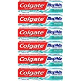 Colgate Max White Toothpaste with Bright Strips, Crystal Mint - 4.6 Ounce (6 Pack)