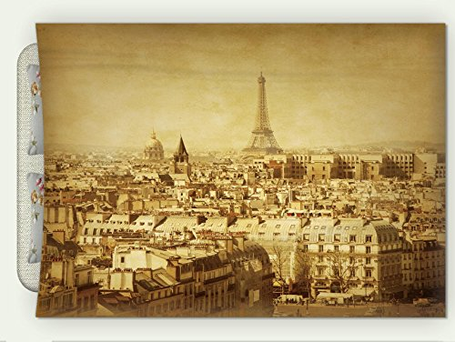 Custom Flannel Throw Blanket Eiffel Tower Decor Collection Classic Photo Of Eiffel Tower Paris National Landmark Old Album Memories Vi Autumn Winter Warm HD Digitals Print Blanketry, 79