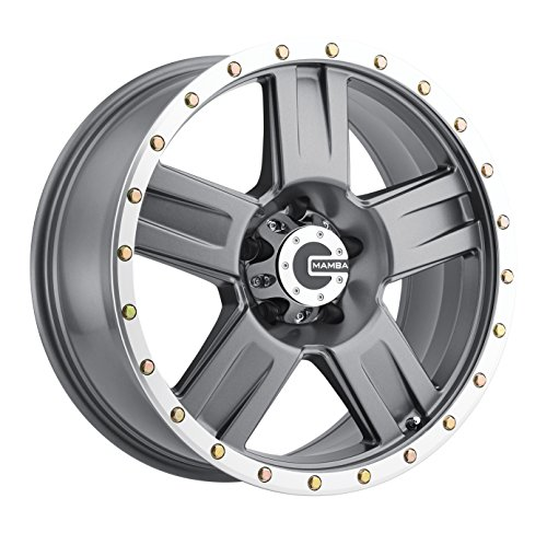Mamba M18 Matte Graphite Wheel with Machine Bead Lip (17x9