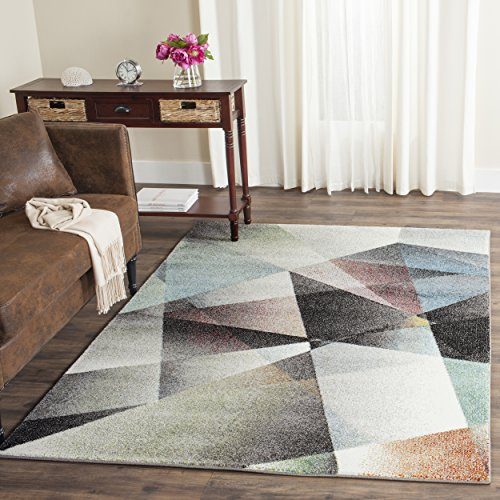 (Safavieh Porcello Collection PRL6939B Modern Abstract Geometric Art Grey and Multi Area Rug (8' x 10') )