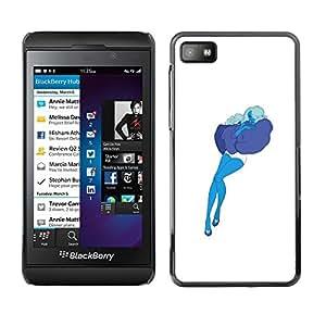"""For Blackberry Z10 Case , Azul Art Pillow Nube Mujer Sexy Medias"""" - Diseño Patrón Teléfono Caso Cubierta Case Bumper Duro Protección Case Cover Funda"""