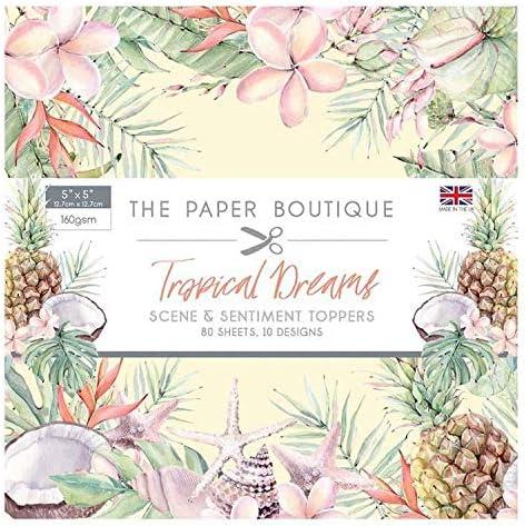 The Paper Boutique Tropical Dreams 5x5 Sentiments Pad
