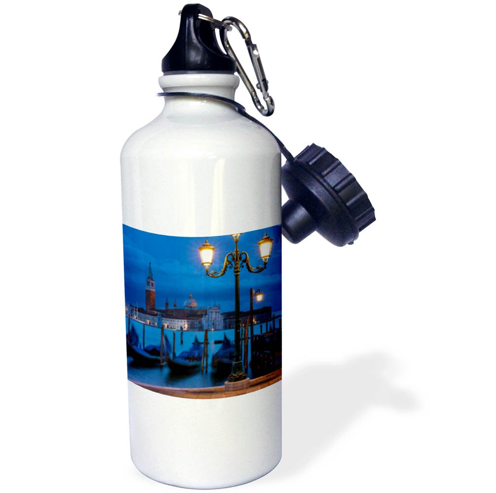 3dRose Danita Delimont - Italy - Early morning view over Gondolas, Venice, Veneto, Italy - 21 oz Sports Water Bottle (wb_277556_1) by 3dRose