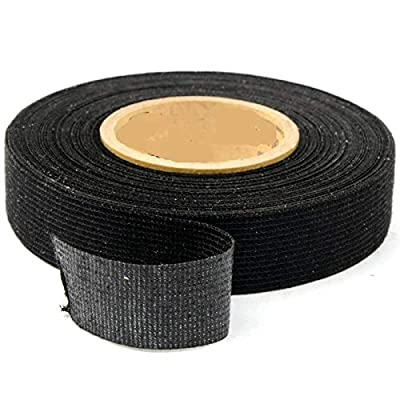 5 Rolls Wire Loom Harness Tape, Wiring Harness Cloth Tape, Wiring Loom Harness Adhesive Cloth Fabric Tap, Adhesive Fabric Tape for Automobile ,Wire harnessing Noise Damping Heat Proof(15 mm x 15 m): Car Electronics