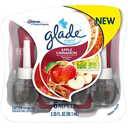 Glade Plugins Scented Oil Air Freshener Refill, Apple Cinnamon, 5 (Glade Apple)