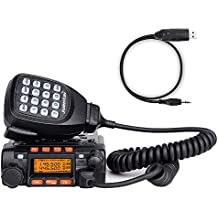 Juentai JT-6188 Dual Band VHF/UHF 136-174/400-480MHz VHF 25Watt UHF 20Watts Dual Band Two Way Radios Mobile Transceiver Walkie Talkie with Programming Cable