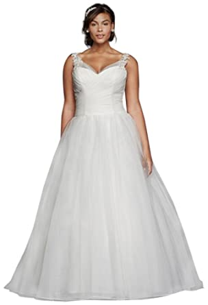 9471069d770 Tulle Plus Size Wedding Dress with Illusion Straps Style 9WG3786 at ...