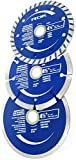 ROK 4-1/2 inch Diamond Saw Blade Set for Angle Grinders - Pack of 3