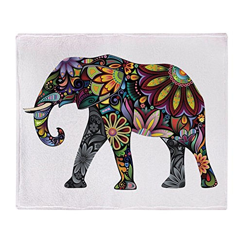 CafePress Colorful Elephant Blanket Stadium