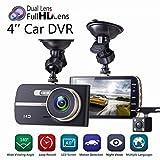 4inch HD 1080P Car DVR Camera Video Recorder Dash Cam G-sensor With Rear Camera Practical