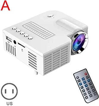 WHLDCD Proyector Pro Pro Mini proyector LED portátil Home Cinema ...