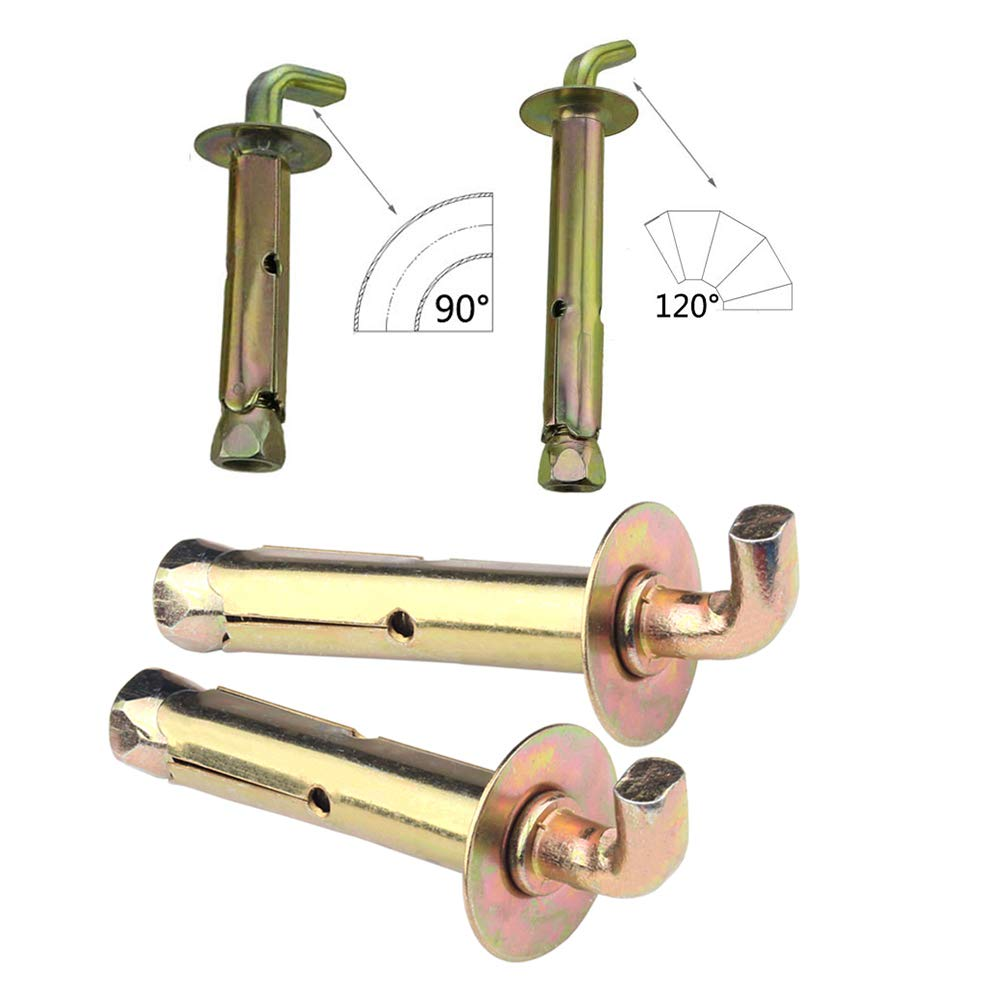 Open Hooks Expansion Screw Bolts External Expansion Sleeve Concrete Anchor M10 5 Pieces BOZEVON Expansion Bolts